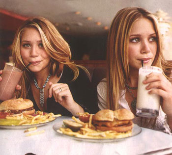 Mary Akte and Ashley Olsen